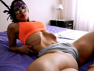 INCREDIBLE Conclave Wasting away Latina has Sexiest Pain in the neck n Cameltoe. Off one's rocker Skinny!